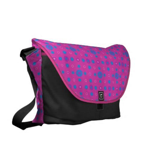 Messenger Bag: Pink, Blue, Purple Dots Pattern - http://www.zazzle.co.uk/messenger_bag_pink_blue_purple_dots_pattern-210660321874969204?rf=238041988035411422