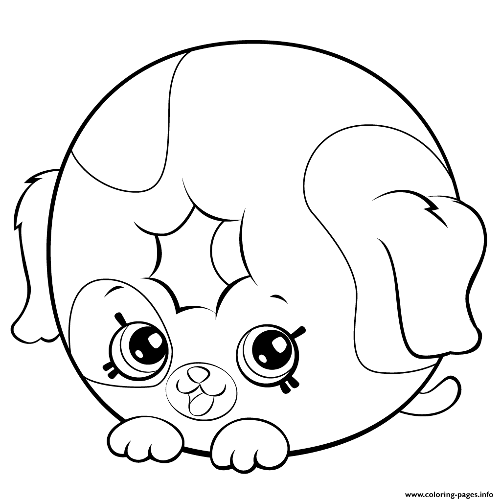 Print Cute Donut Dog Printable Shopkins Season 5 Coloring Pages
