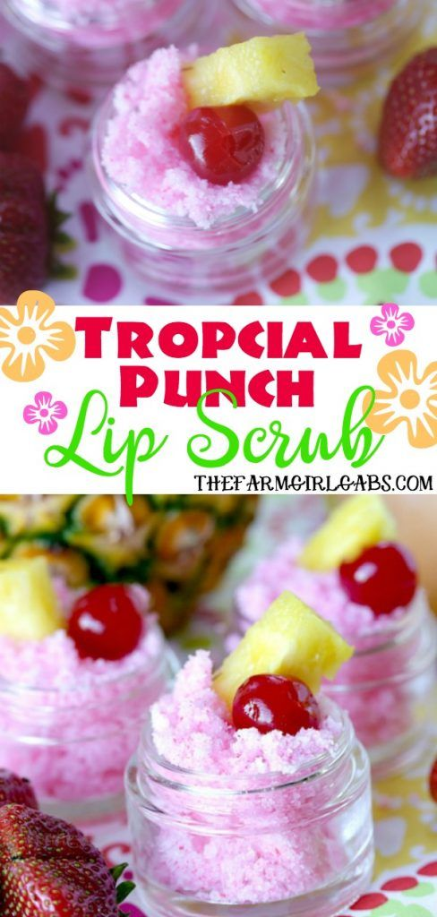 Tropical Punch Lip Scrub #lipscrubs
