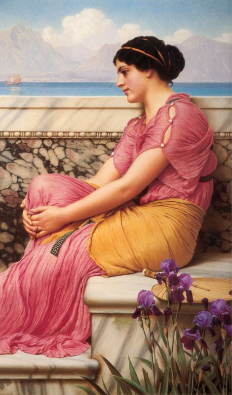 John William Godward, Absence makes the heart grow fonder on ArtStack #john-william-godward-1 #art