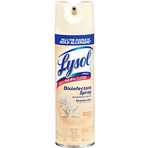 Lysol Disinfectant Spray Vanilla Blossoms 19oz Walmart Com