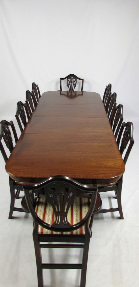 Large Regency Mahogany Reproduction Dining Table 10 Chairs 8 2 Carvers Dining Room Furniture Dining Furniture