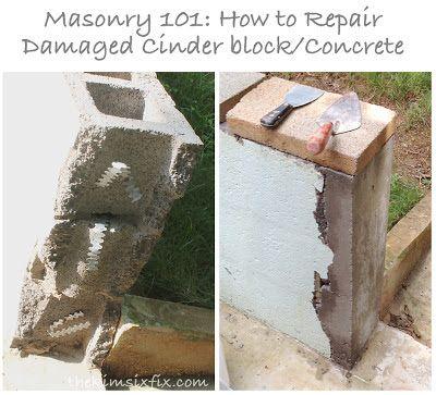Masonry 101 How To Repair A Concrete Cinder Block Wall Cinder Block Walls Cinder Block Concrete Block Walls