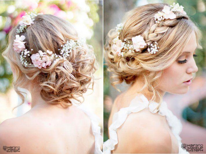 Inspiración de peinado de boda romántica: todo trenzado  – Boda fotos