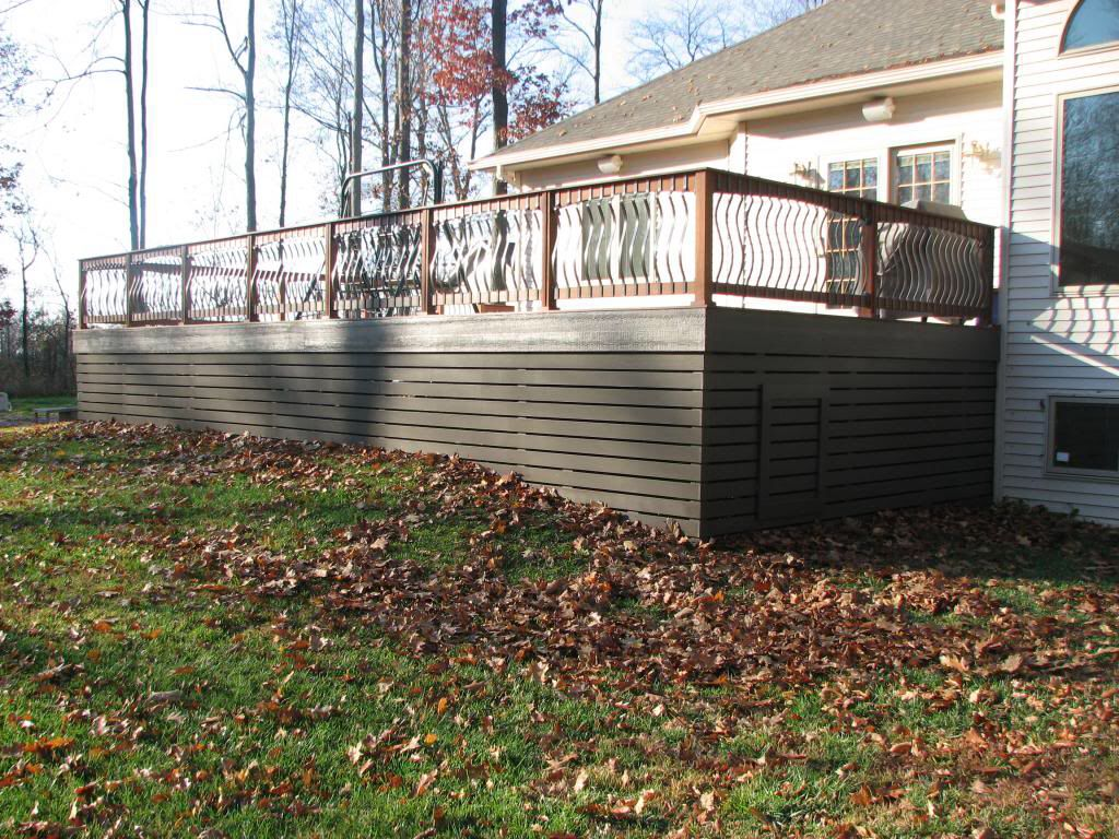 Best Deck Skirting Pic Only Horizontal Spaced Boards 640 x 480
