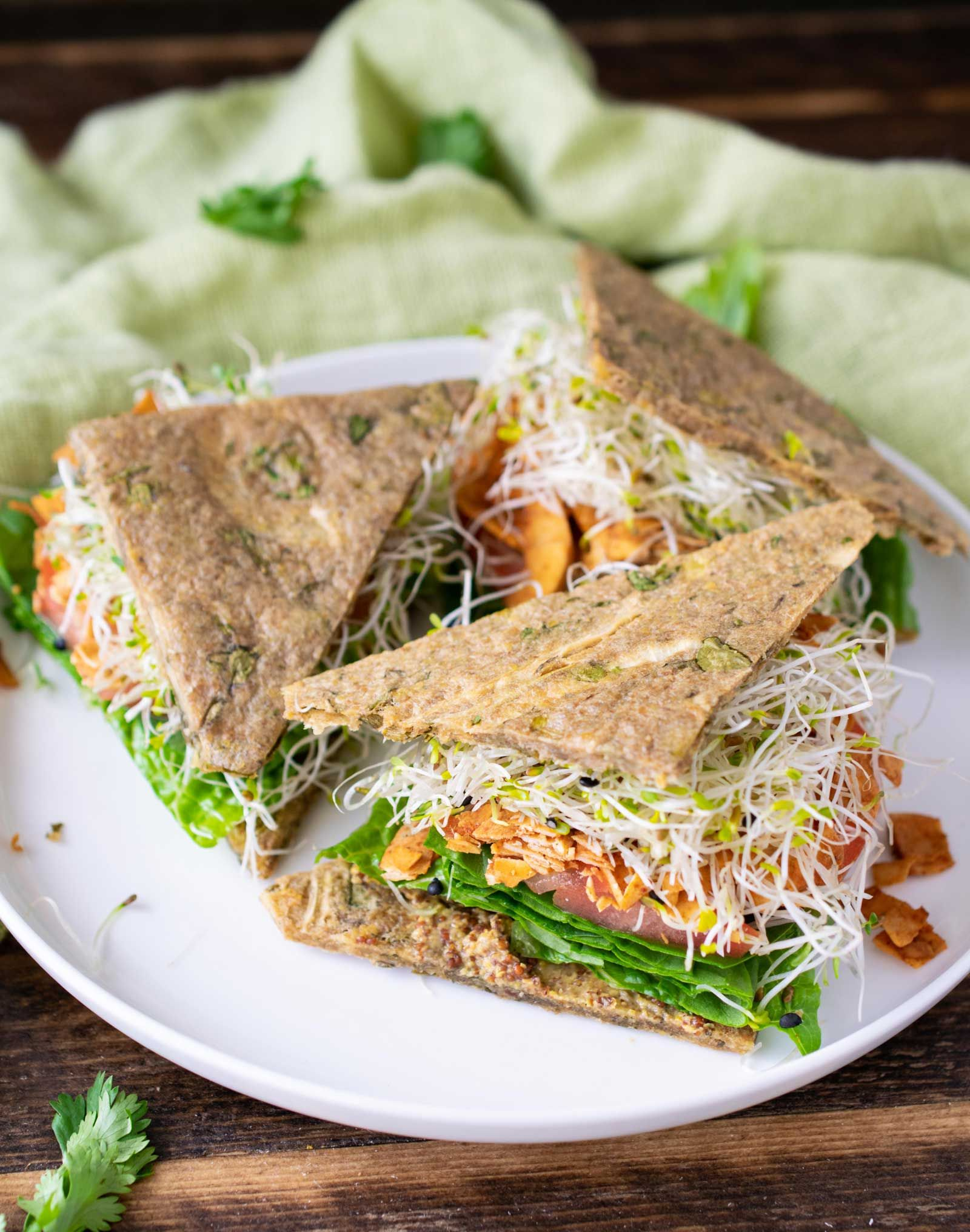 Gluten Free Onion Herb Flatbread Raw Vegan