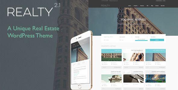 Realty v2.0 Unique Real Estate WordPress Theme - in filestube Free ...