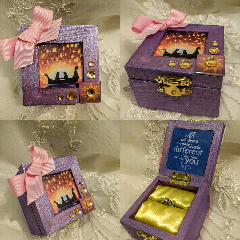 Disneys Rapunzel inspired Engagement Ring Box :) #Rapunzel #FlynnRider #Disney
