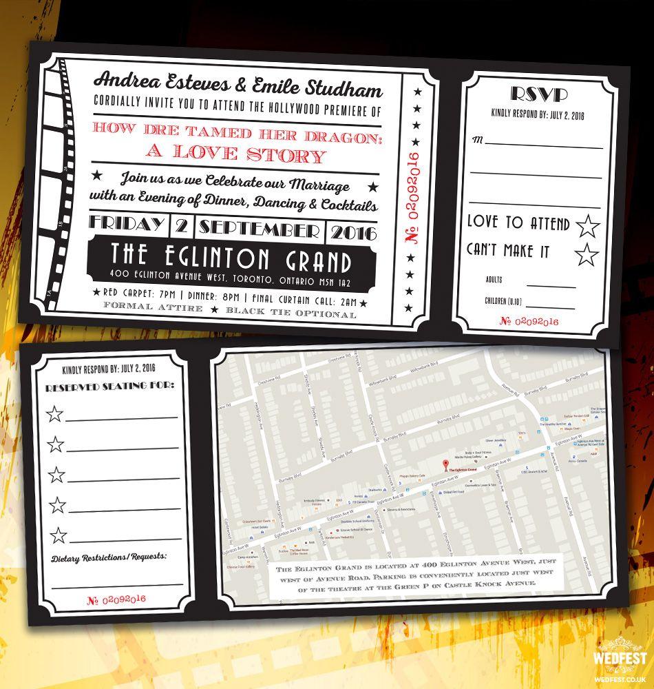cinema ticket wedding invites http://www.wedfest.co/cinema-and ...