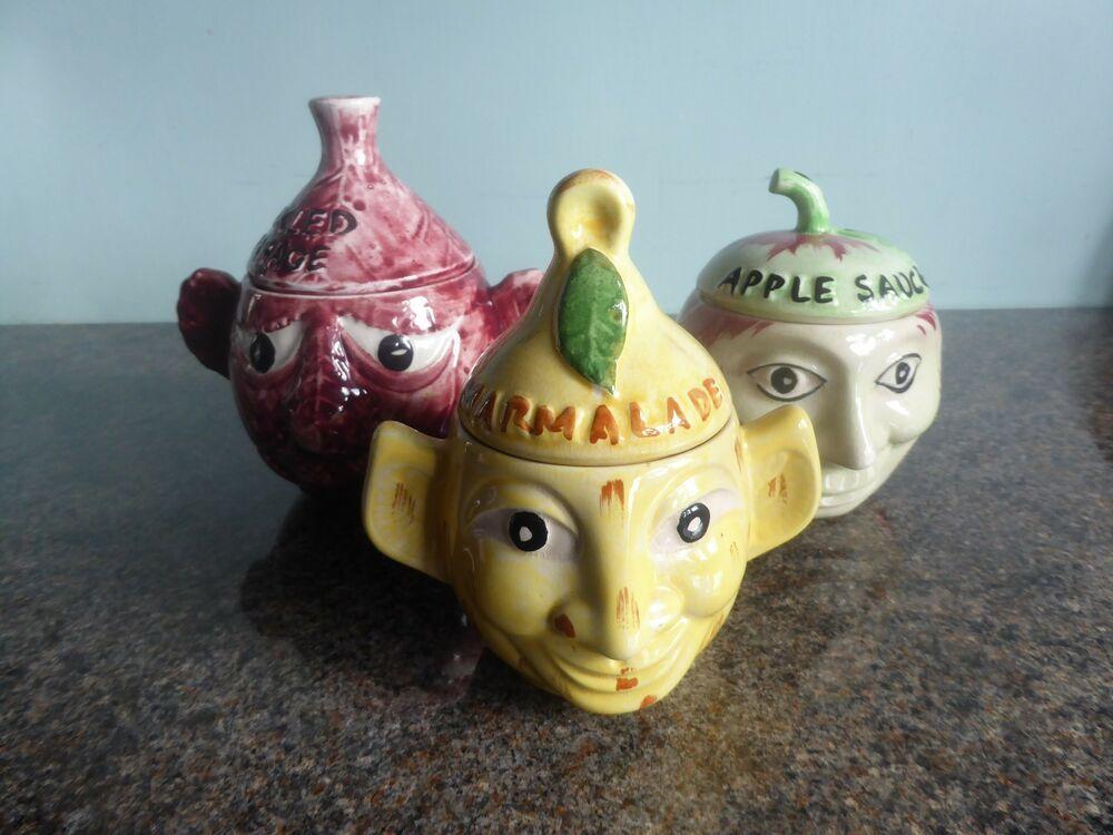 Ceramic Face Pot Vintage