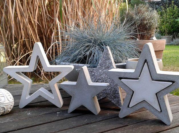 Estrellas De Cemento Figuras Decorativas Accesorios Y Decoración Para El Hogar Hecho A Mano En Dawanda Es Cemento Decorativo Arte Con Cemento Cemento
