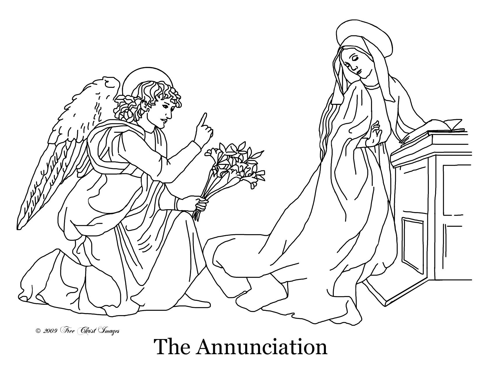 Coloring Page Of The Annunciation