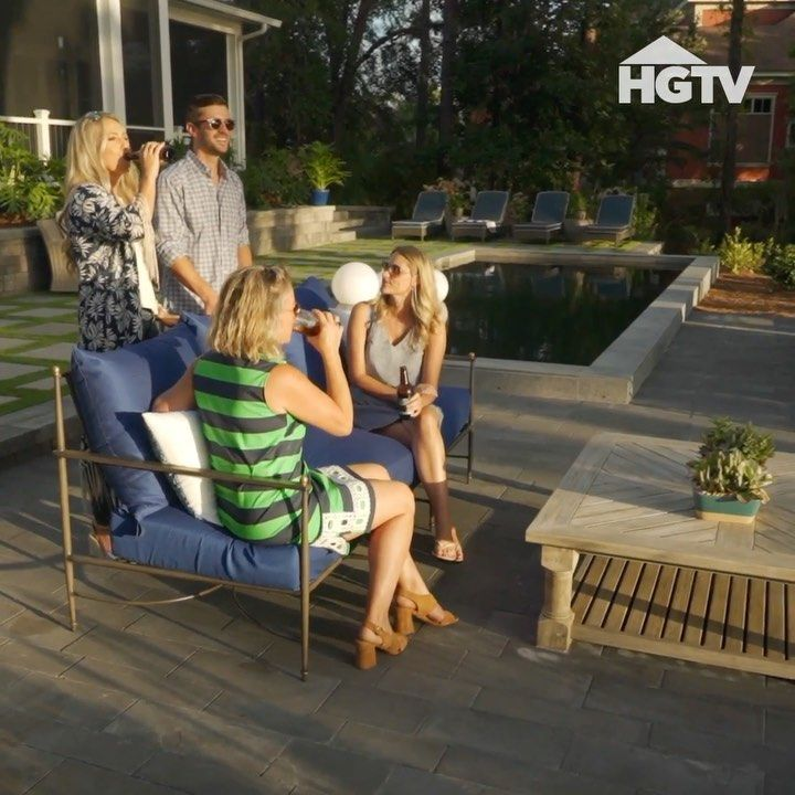 "Premier Home Staging California Hgtv: HGTV On Instagram: ""Sleek Pavers Set The Stage For A Party"