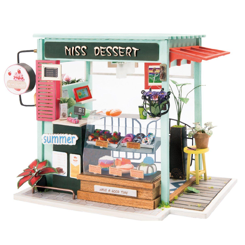Dessert Shop Robotime DIY Miniature Dollhouse Kit Diy
