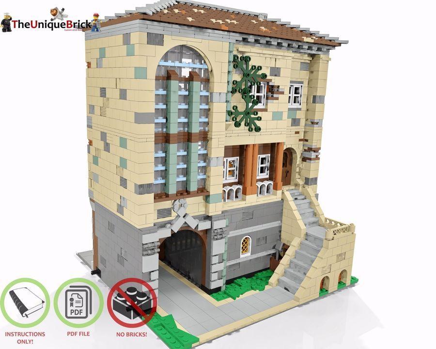 PDF Instructions Manual LEGO MOC Modular Florist CUSTOM Model V2