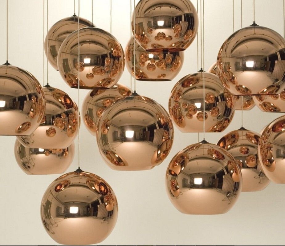Kitchen. Accessories for kitchen lighting decoration using gold ball ...