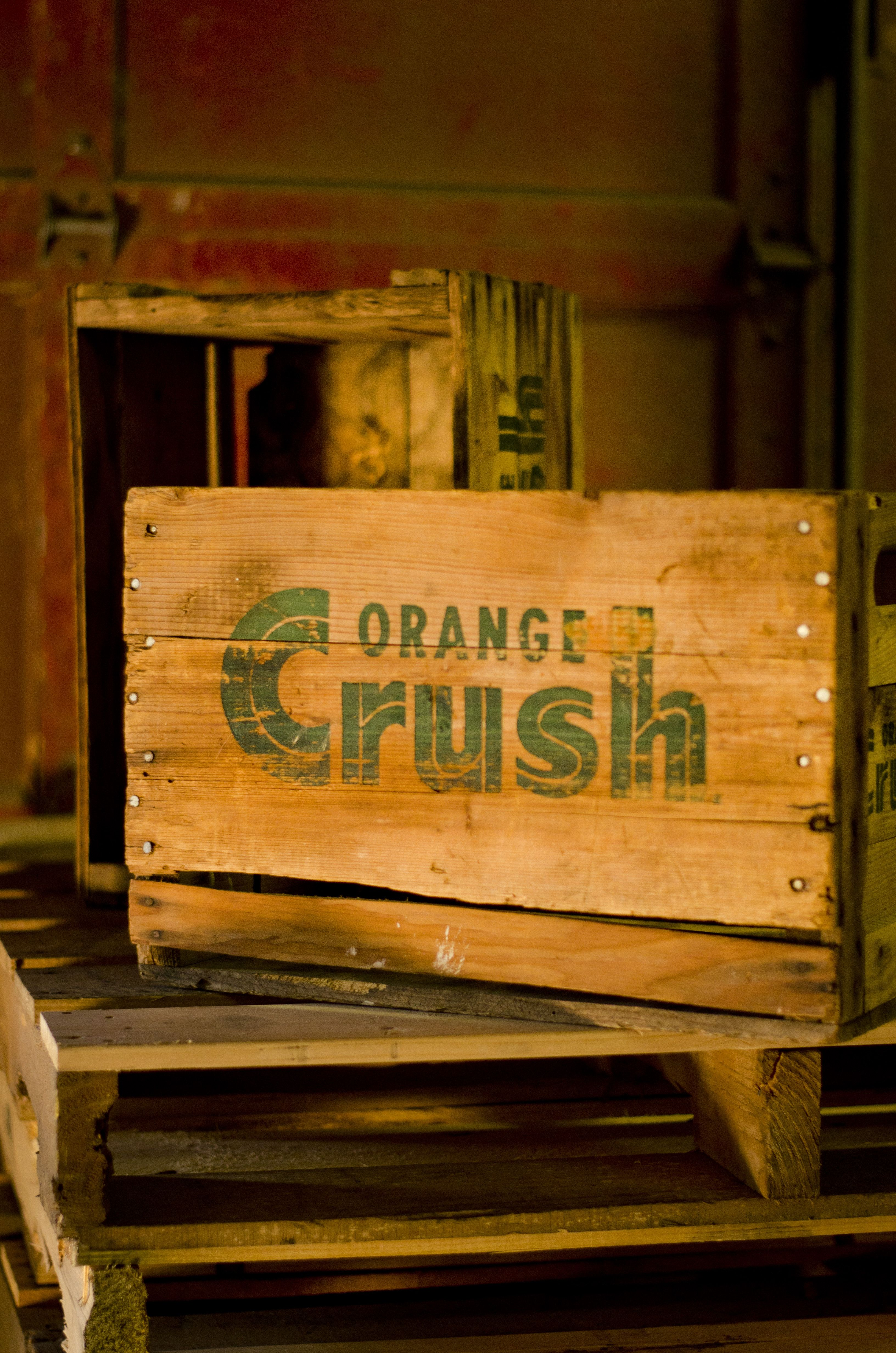 Vintage Orange Crush Crate Excellent For Storage Or Even Just As A