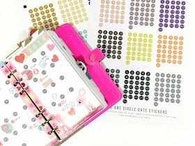 Free Circle Date Stickers for your Planner | Home ...