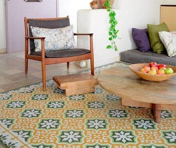 Alfombras de vinilo para decorar la casa alfombras for Alfombras lavables para salon