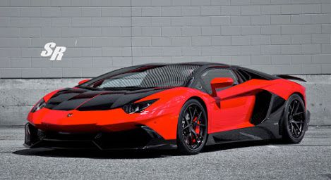 2015 RED & BLACK LAMBORGHINI AVENTADOR LP 720-4