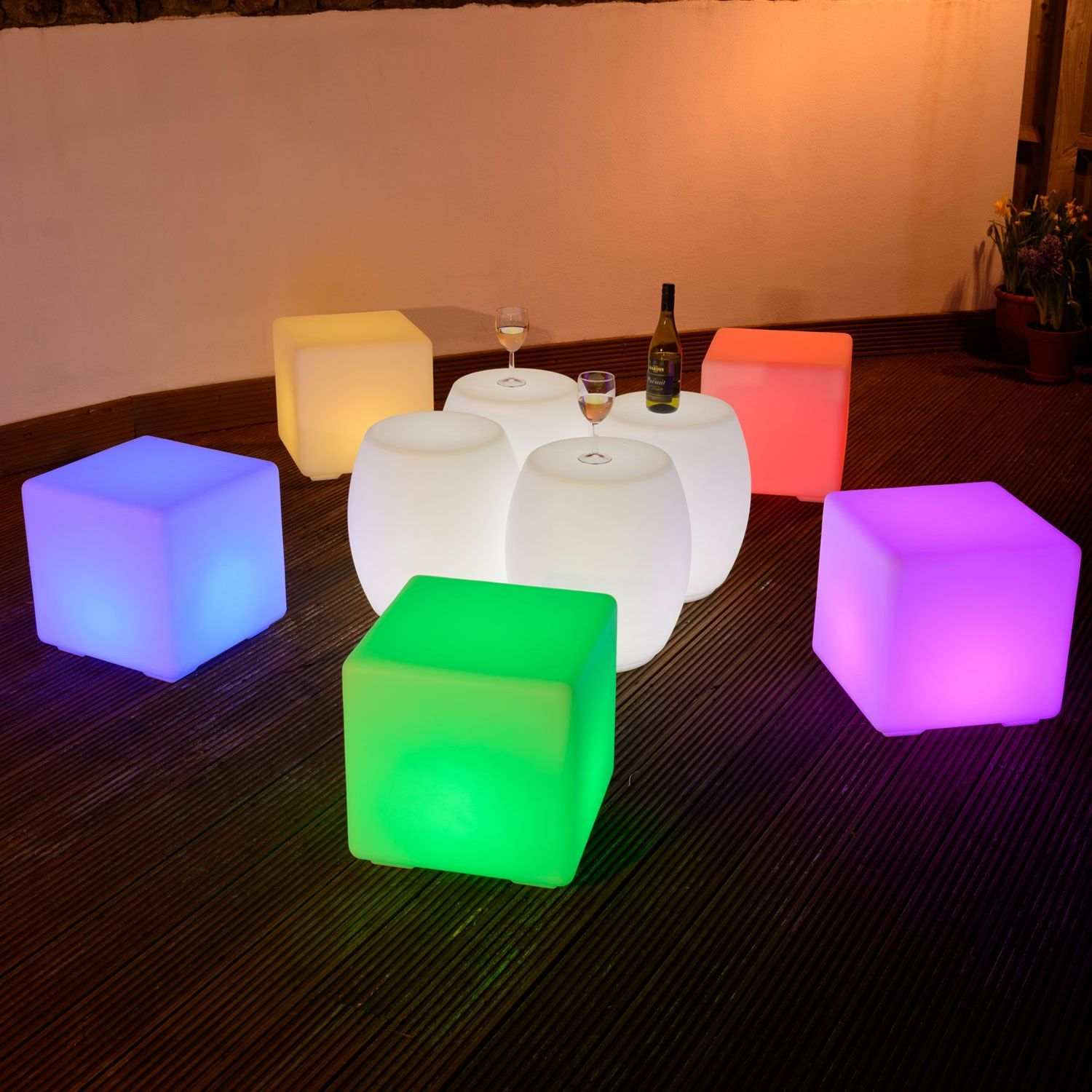 Beautiful Colour Changing cm LED Cube Stool LED Furniture for Sale This Is It Stores