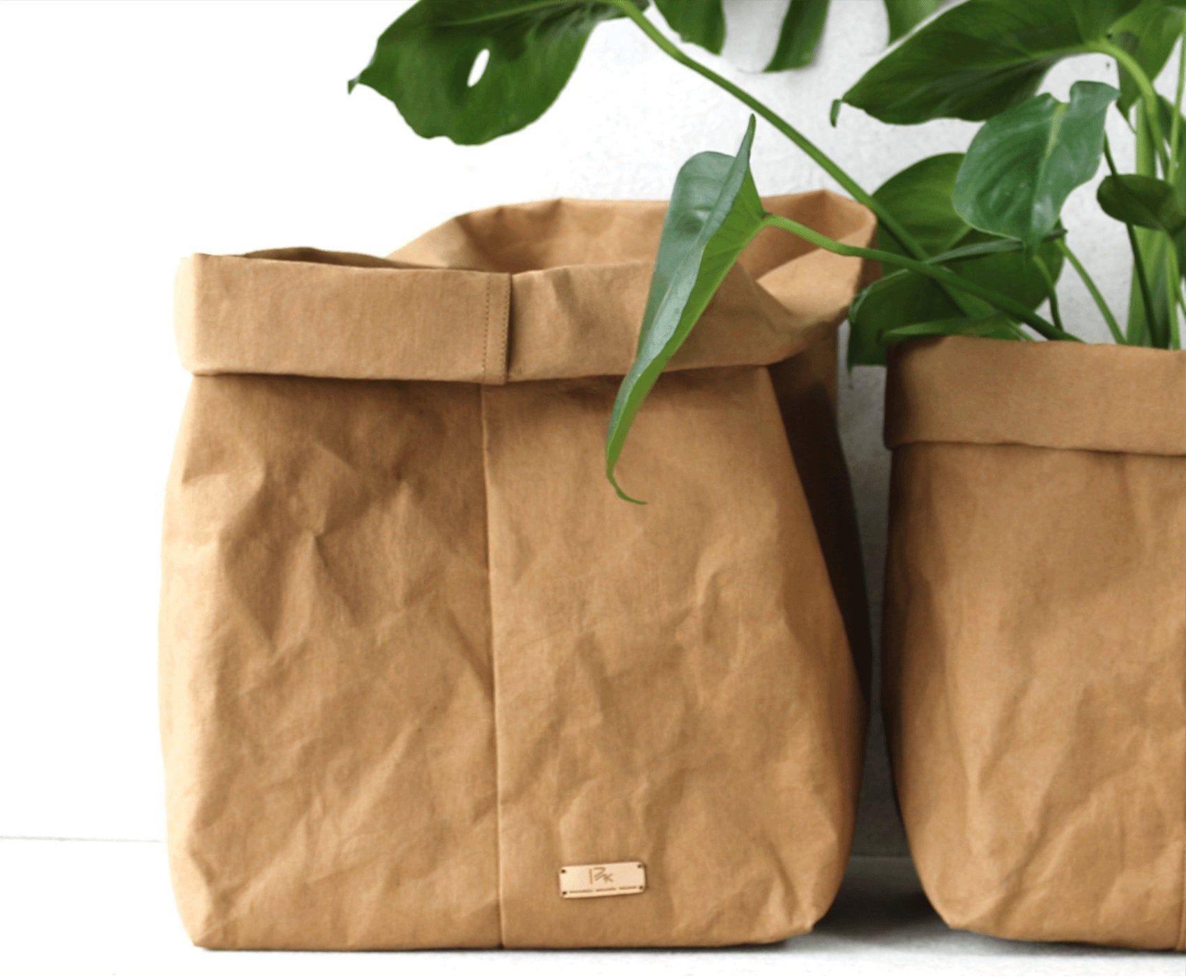 Paper Bag Storage Bag Paper Flower Pot Flower Pot Craft Paper