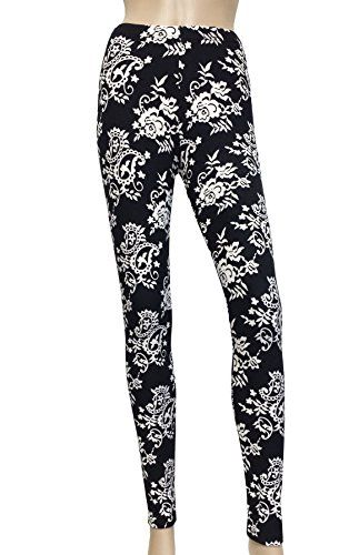 13.99 - JAVEL Women's Plus Size High Waisted Black and White Paisley Rose Print Leggings Javel http://www.amazon.com/dp/B010TS3FFY/ref=cm_sw_r_pi_dp_xDaYwb0K2E06M