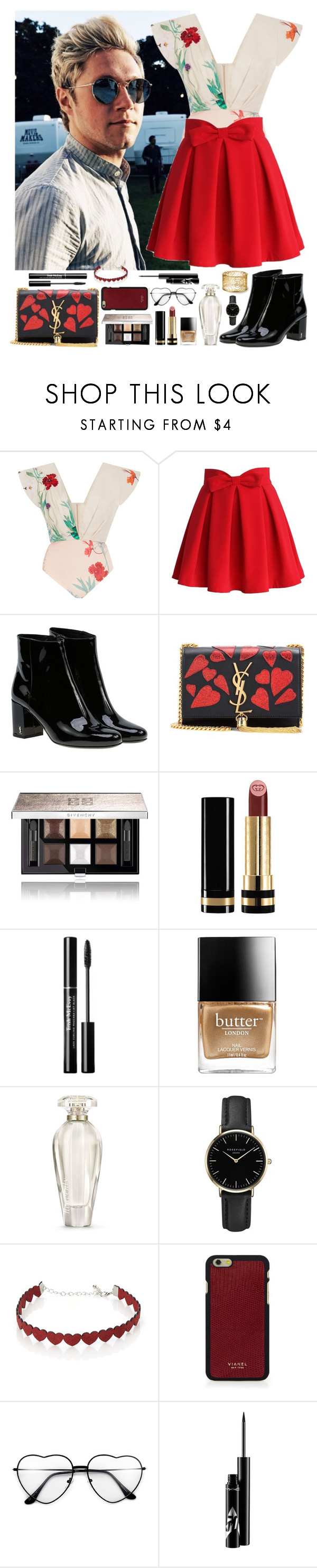 """Niall Horan #105"" by ambere3love34 ❤ liked on Polyvore featuring beauty, Johanna Ortiz, Chicwish, Yves Saint Laurent, Givenchy, Gucci, Butter London, Victoria's Secret, ROSEFIELD and Simons"
