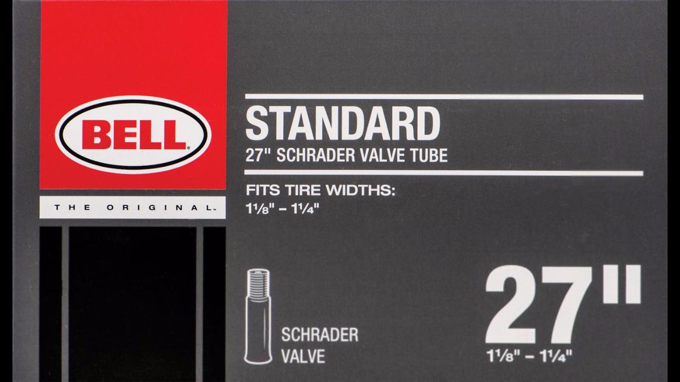 Bell Standard 27'' Schrader Valve Tube Schrader valve