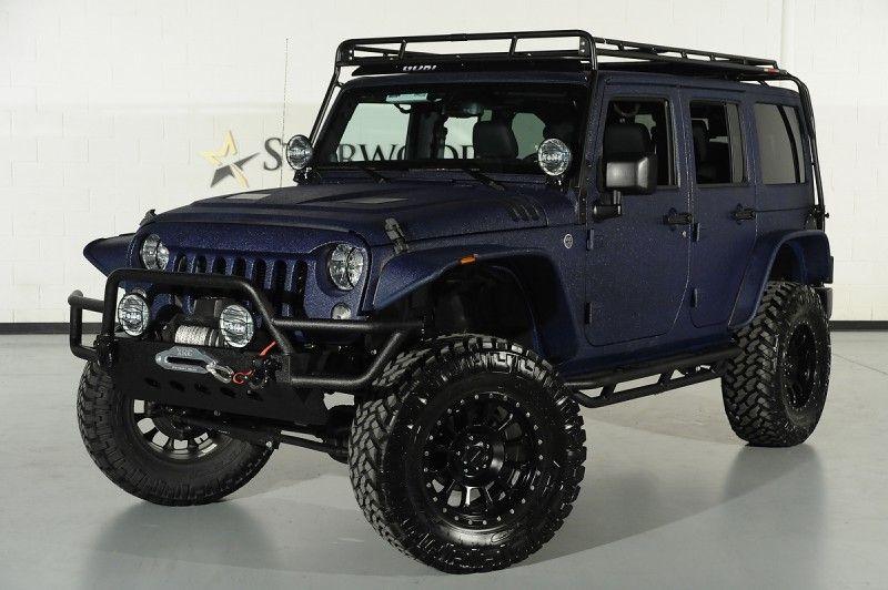 Custom 2014 Jeep Wrangler Unlimited In True Blue Metallic Kevlar