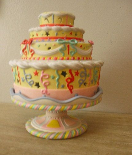 Sweet Partylite Birthday cake candle holder tealight