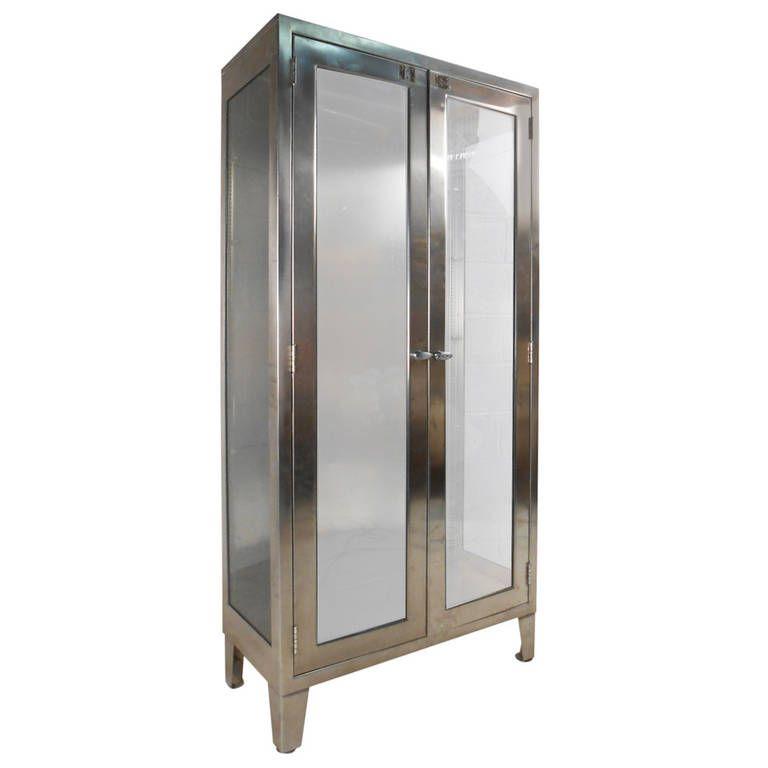 Unique Mid-Century Industrial Display Cabinet | Modern ...