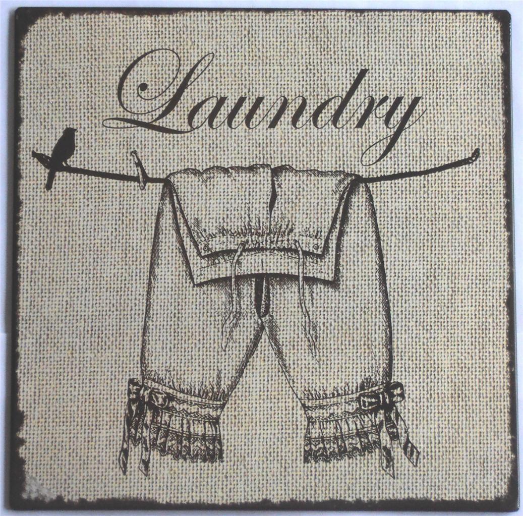 vintagelaundryroomdecor Vintage French Laundry Sign TIN Metal