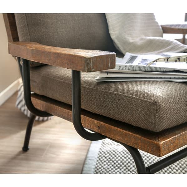 Furniture Of America Copenhagen Urban Industrial Upholstered Accent Chair