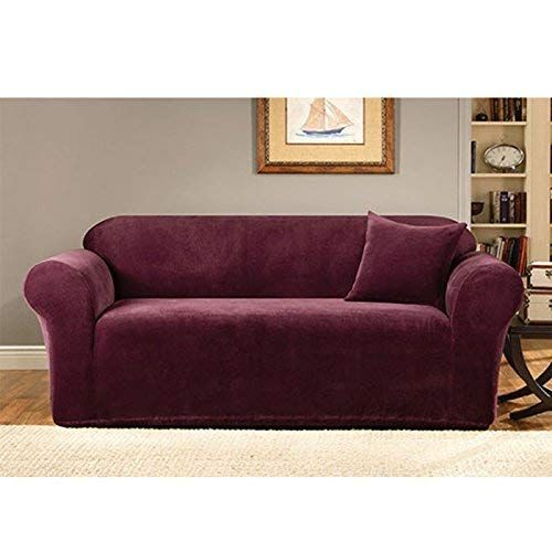 Sure Fit Stretch Metro 1 Piece Sofa Slipcover Burgundy Sf39410 Review