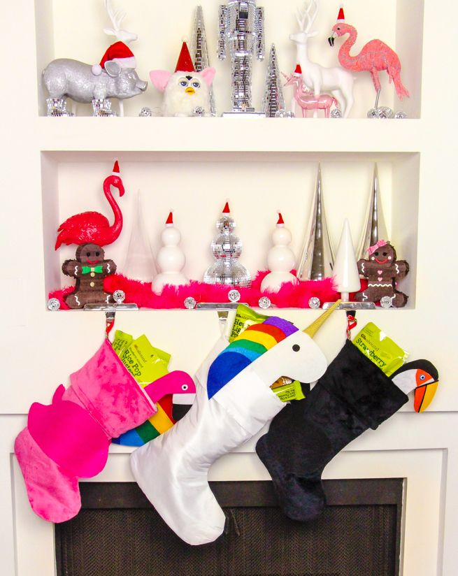 diy pool float christmas stockings final