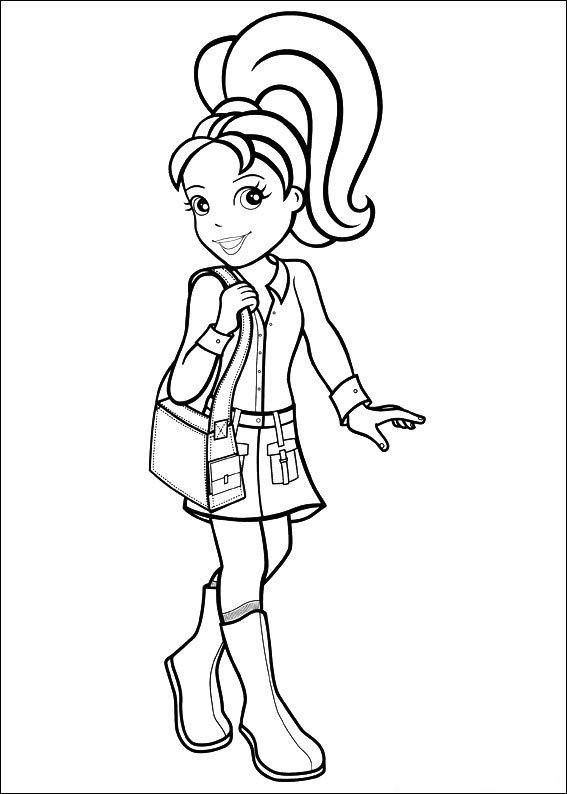 Free Printable Polly Pocket Coloring Pages For Kids Coloring
