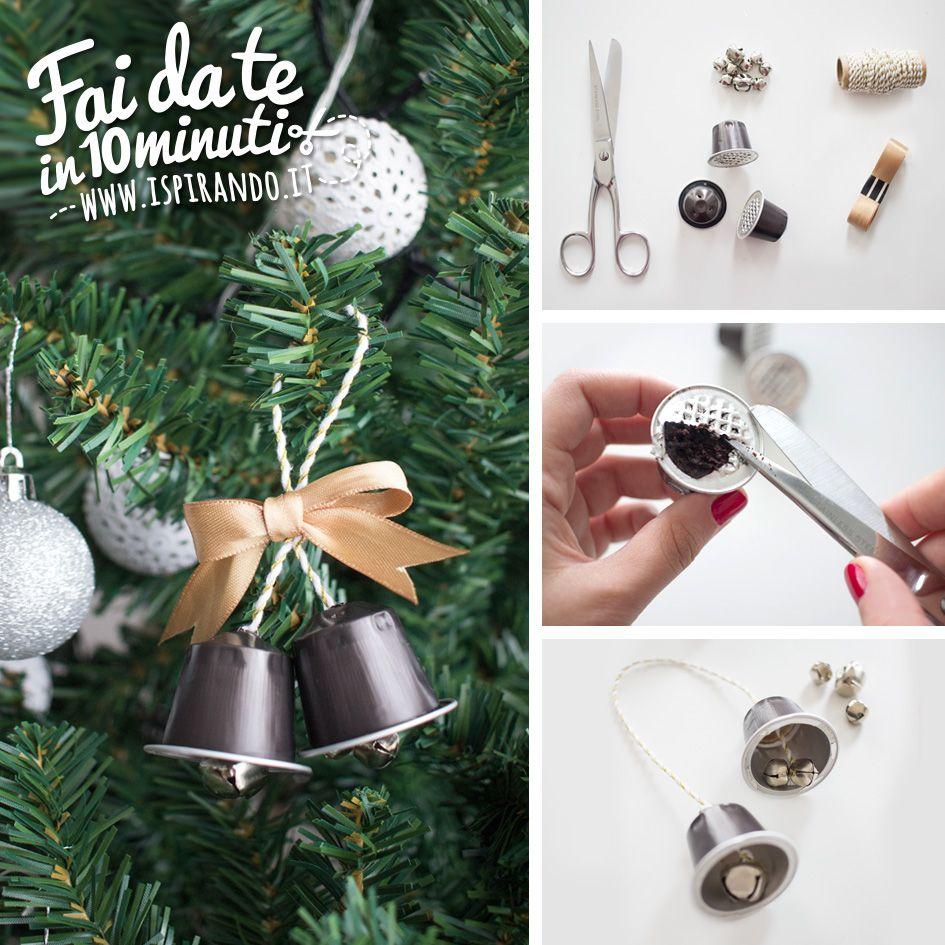 Lavoretti Di Natale Con Cialde Nespresso.Campane Di Natale Create Con Il Riciclo Delle Capsule Diy