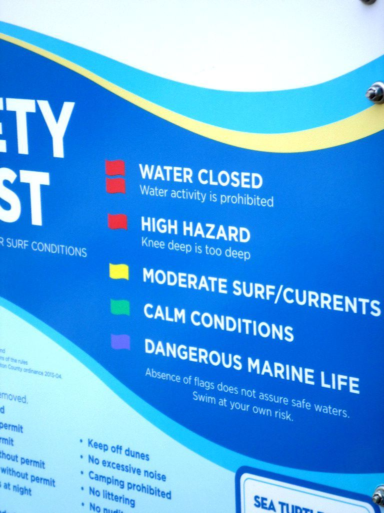 Beach Safety Signs Tips What Do The Colored Flags On The Beach