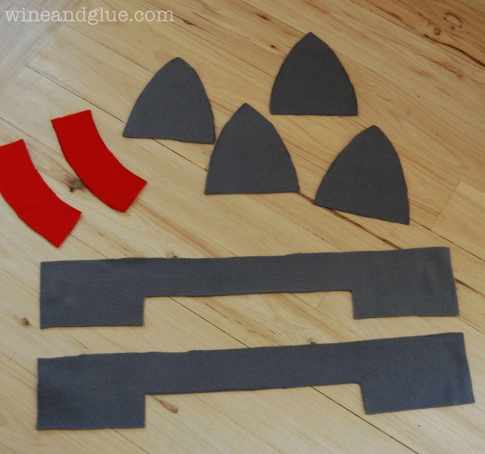 Fleece Knight Helmet Hat {Free Pattern} - Wine & Glue | Fleece ...