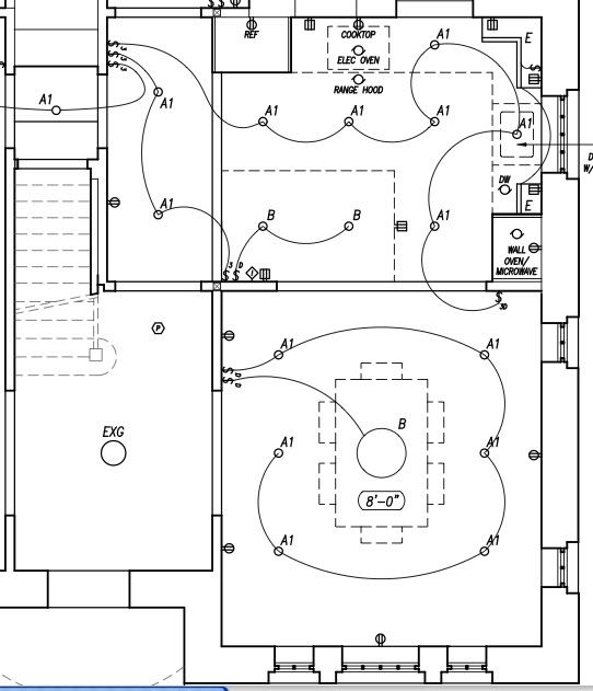 Lighting Floor Plan Under Cabinet