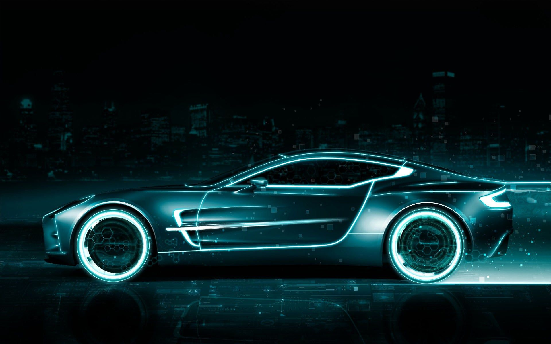 Animated Cars Wallpapers Com Imagens Aston Martin Aston Tron