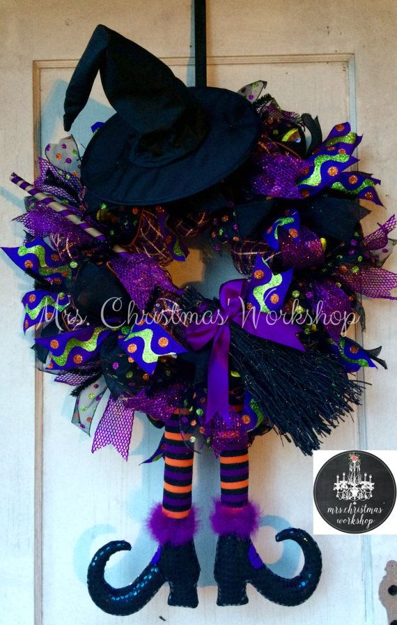 items similar to on sale halloween wreath deco mesh wreath witch wreath fall wreath on etsy