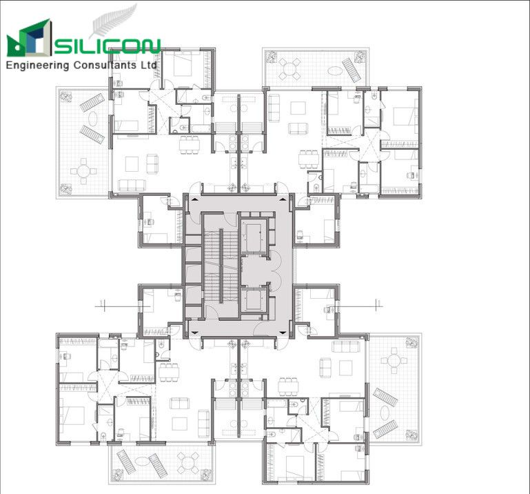 CAD Architectural, Structural, MEP Services Siliconec New