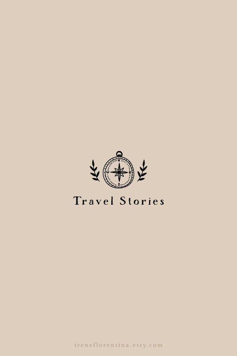 Photo of Travel Adventure Premade Logo Design, Photography Logo Watermark, Travellers Blog Hand Drawn Logo, S