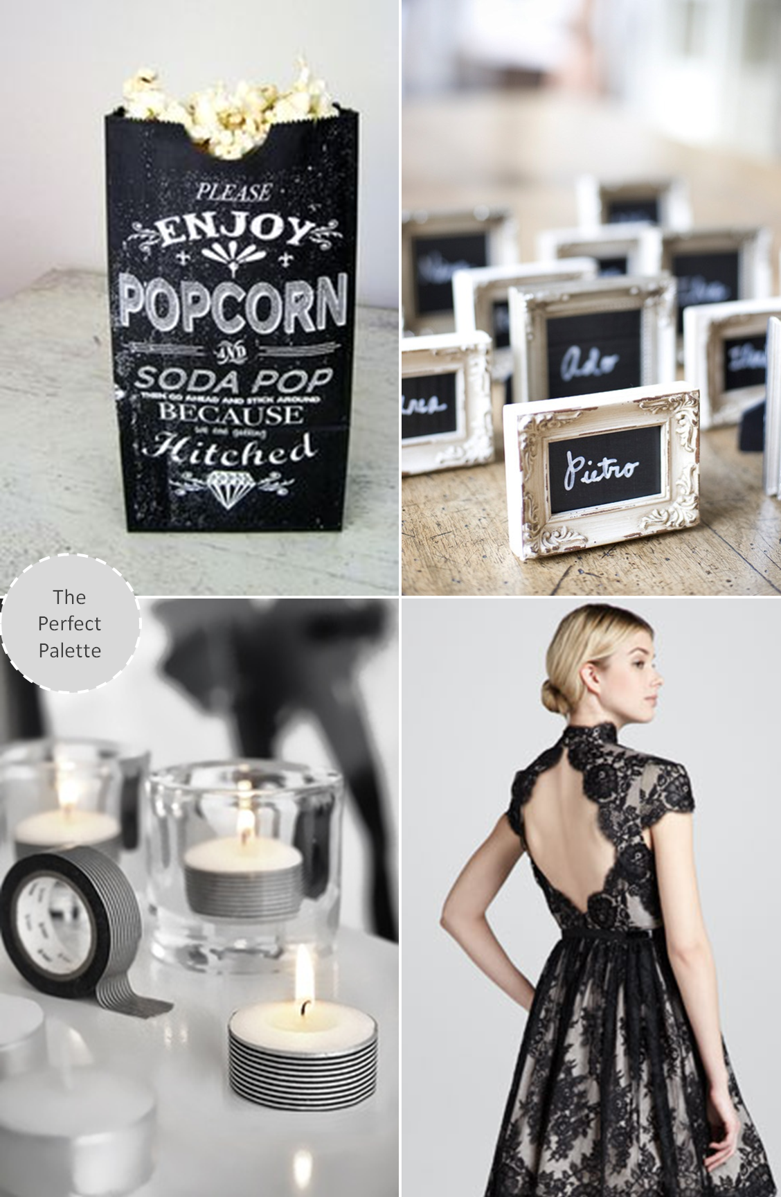 Now Trending: Black + White Done Right | Weddings, Wedding and Black