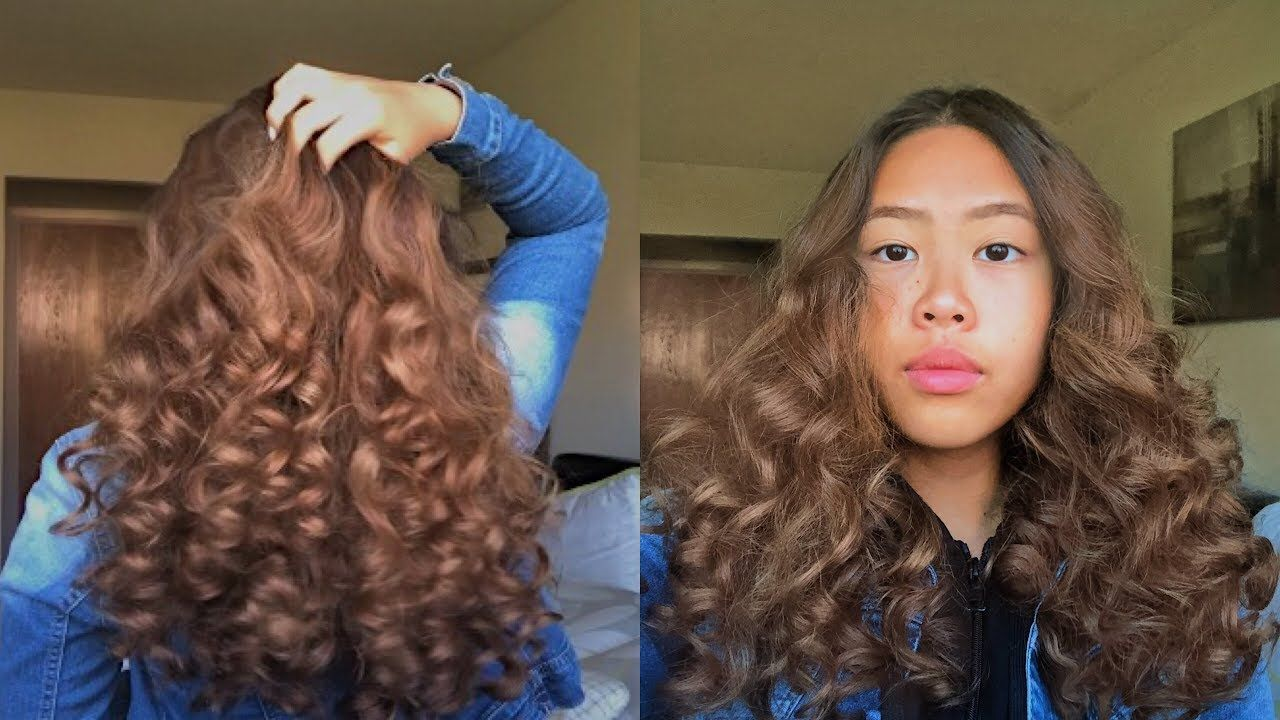 Heatless Overnight Curls w/ Socks