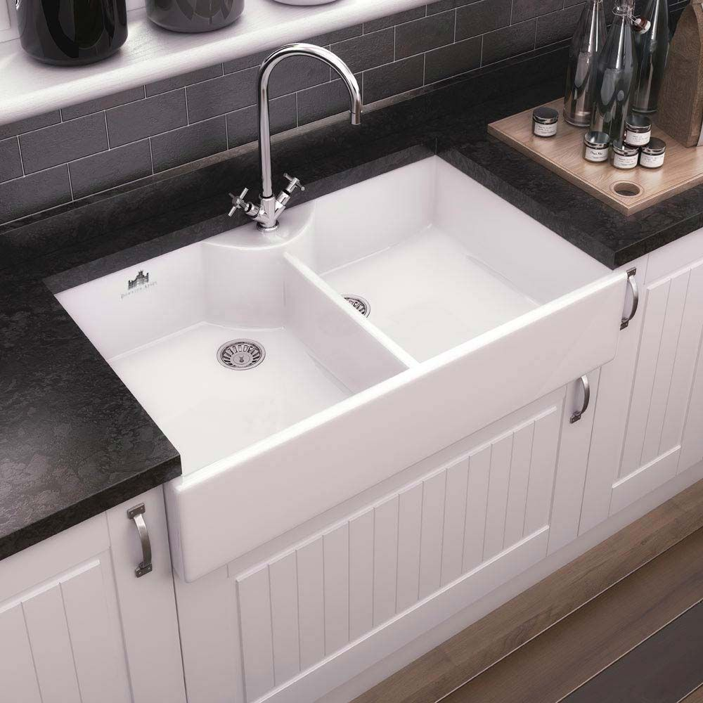 Downton Abbey Double Butler Kitchen Sink W895xd500mm Dafc910