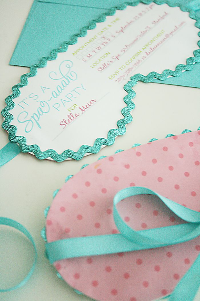 Spa party invitations in 2018 zoes party ideas pinterest spa these darling sleeping mask spa party invitations will sent the perfect stage for a spa birthday party free printable to do at home filmwisefo