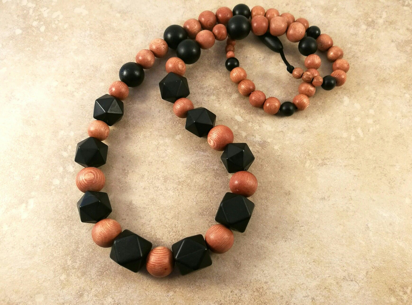 Rosewood   silicone Teething necklace for mum 41b39acbd53